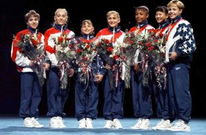 The 1996 US Women's Gymnastic's Olympic Team (L-R)